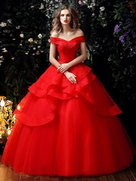 Ericdress Elegant Color Ball Gown Wedding Dress