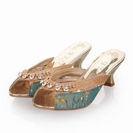 Ericdress Ethnic Sequins&rhinestone Slippers