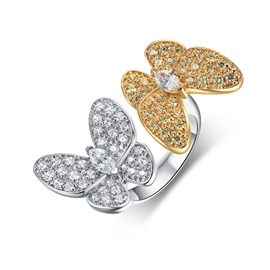 Ericdress Exquisite Butterfly Couple Open Ring