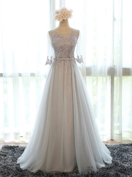 Ericdress Charming Appliques Long Bridesmaid Dress