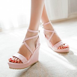 Ericdress Delicate Cross Strap Wedge Sandals