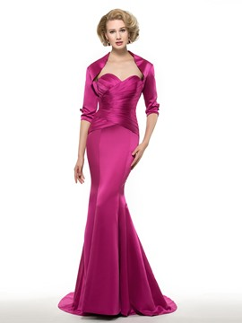 Ericdress Elegant Sweetheart Mermaid Mother Of The Bride Dress With Jacket