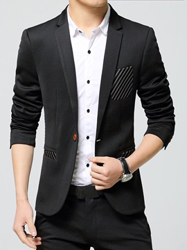 Ericdress Stripe Pocket Patched Men's Blazer