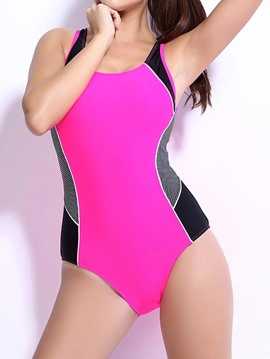 Ericdress Color Block hueco detrás Monokini
