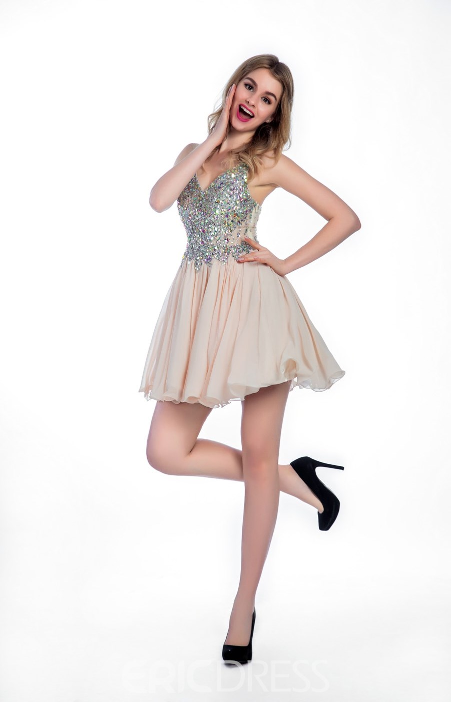 Ericdress A-Line Beading Short Prom Dress