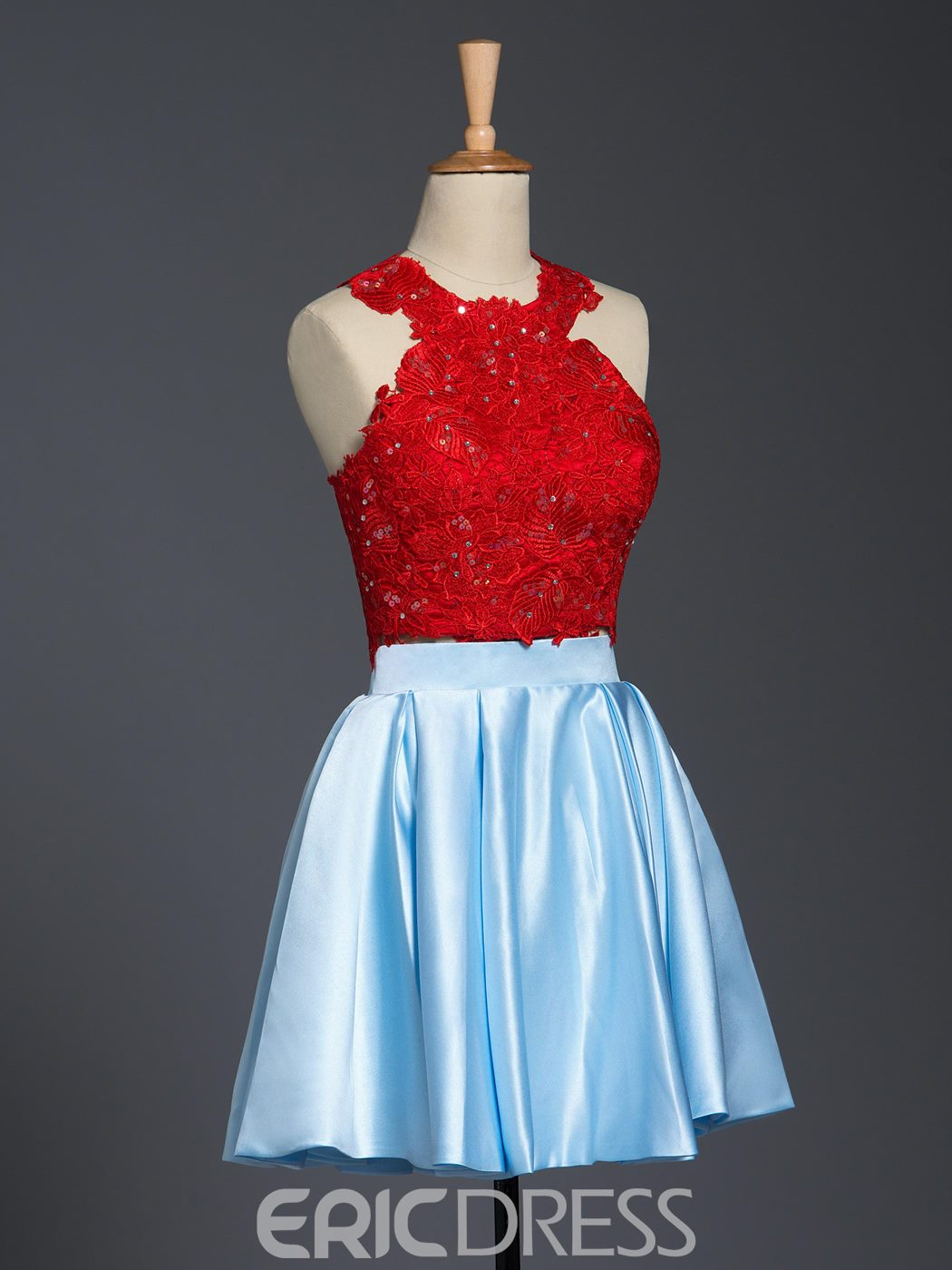 Ericdress Two-Piece Lace Sequins Homecoming Dress