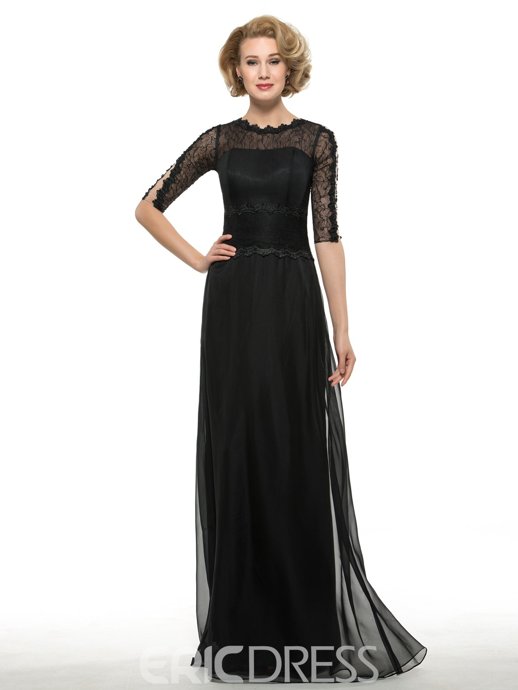 accd68368c9 Ericdress Modest Jewel A Line Mother Of The Bride Dress 11645888 ...