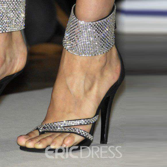 Ericdress Glittering Rhinestone Stiletto Sandals