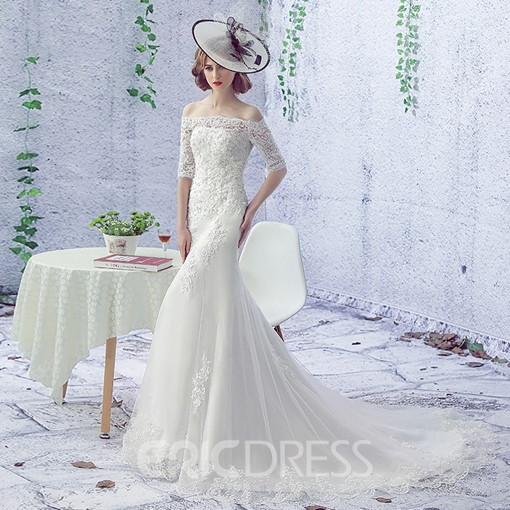 Ericdress High Quality Appliques Mermaid Wedding Dress