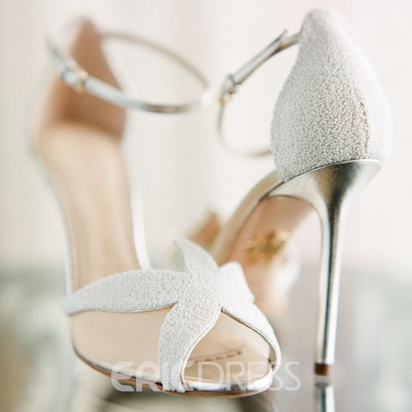 Ericdress White Sea Star Stiletto Sandals