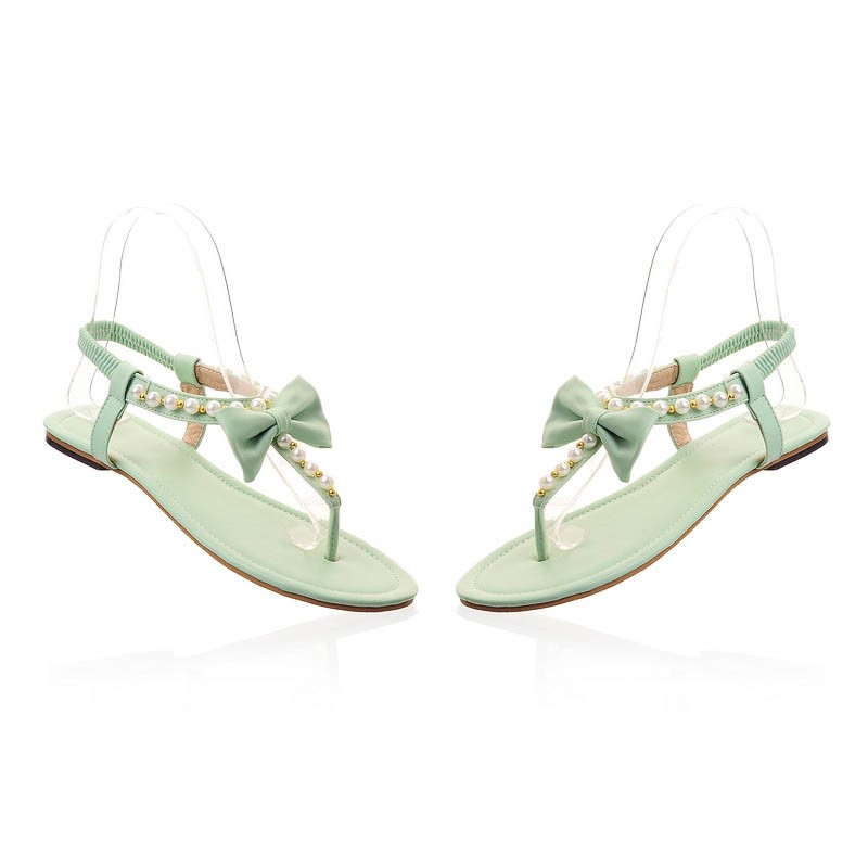 Ericdress Lovely Princess Bowknot Flat Sandals
