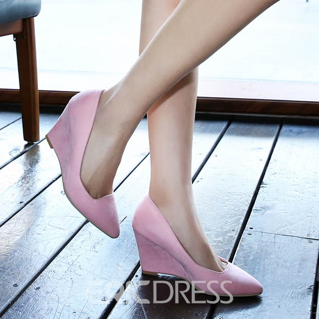 Ericdress Suede Point Toe Wedges