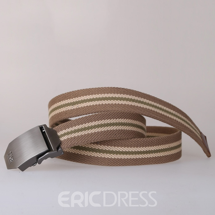 Ericdress Men's Stripe Canvas Automatic Belt