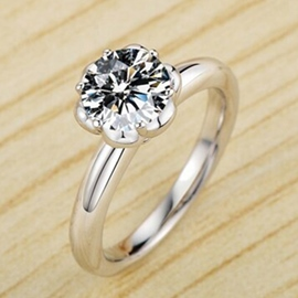 Ericdress Classic Imitation Diamond Ring For Women