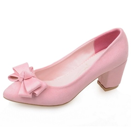 Ericdress Pointed Toe Slip-On Bow 6cm Thin Shoes