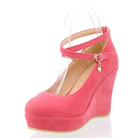Ericdress Suede Round Toe Wedges