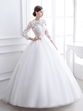 Ericdress Amazing Jewel Appliques Ball Gown Wedding Dress