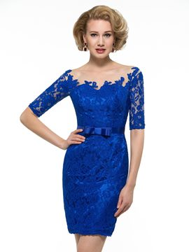 Ericdress Fancy Bateau Short Lace Mother Of The Bridesmaid Dress