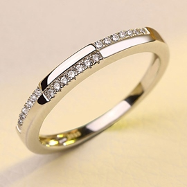 Ericdress Smart Zircon Sterling Silver Ring