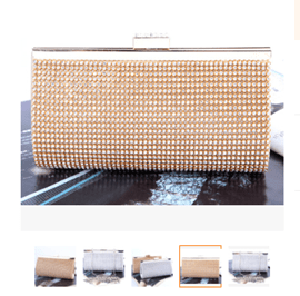 Ericdress Elegant Diamond Color Butyl Satin Clutches