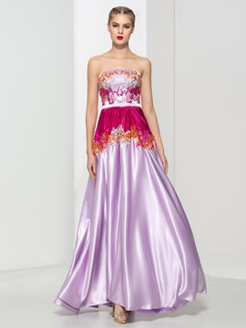 Ericdress Strapless Appliques Beading Sequins Prom Dress