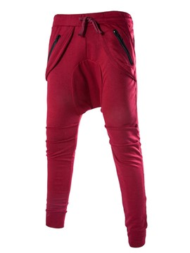 Ericdress Solid Color Casual Haren Men's Pants