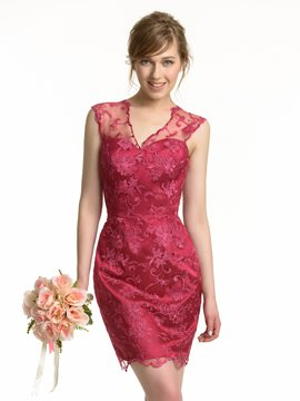 Ericdress Beautiful Sheath Lace Bridesmaid Dress