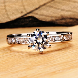 Ericdress Classic Handmade NSCD Diamond Ring