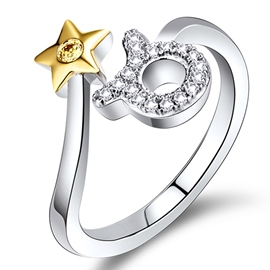 Ericdress Creative Zodiac Open Ring