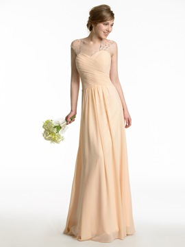 Ericdress Beautiful A Line Long Bridesmaid Dress