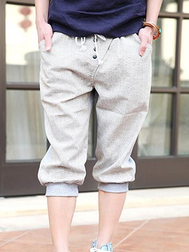 Ericdress Color Block Loose Casual Men's Shorts