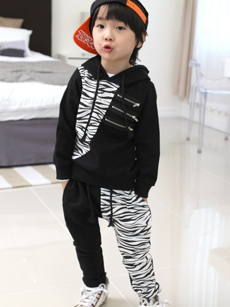 Ericdress Casual Hooded Boys Outfit