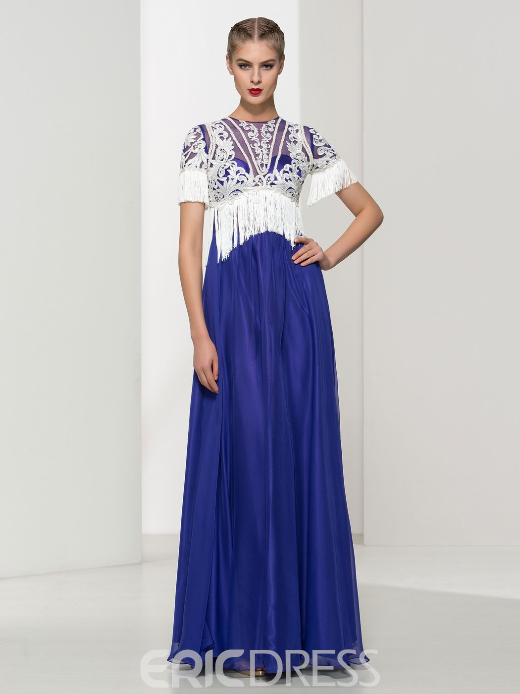 Ericdress A-Line Tassel Lace Evening Dress