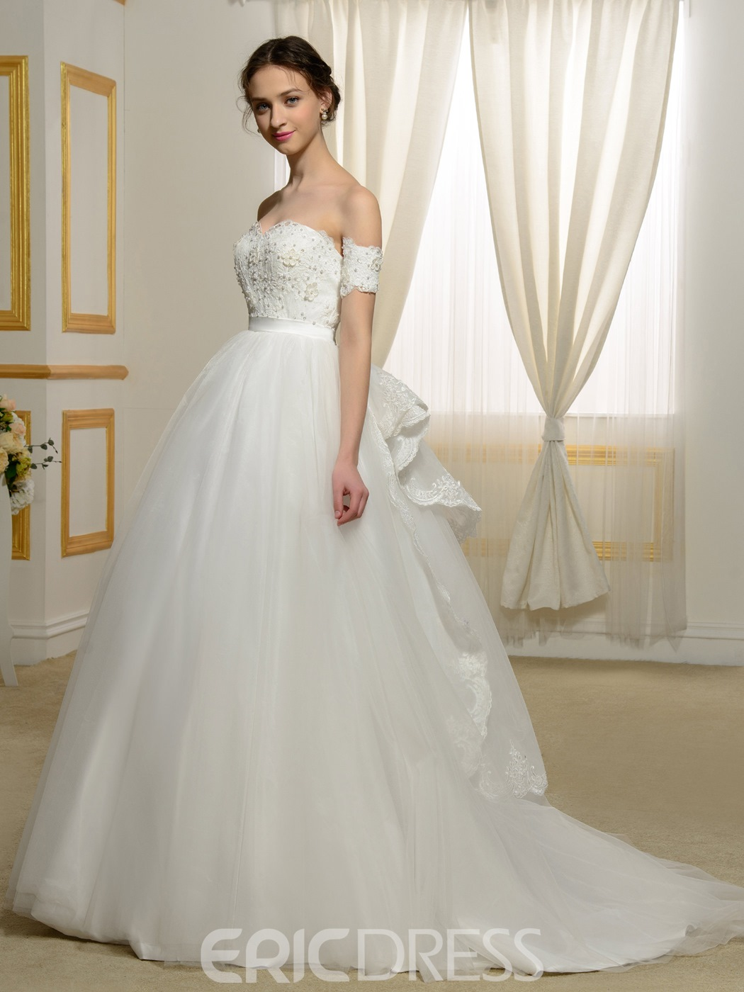 Ericdress Charming Sweetheart Ball Gown Lace Wedding Dress