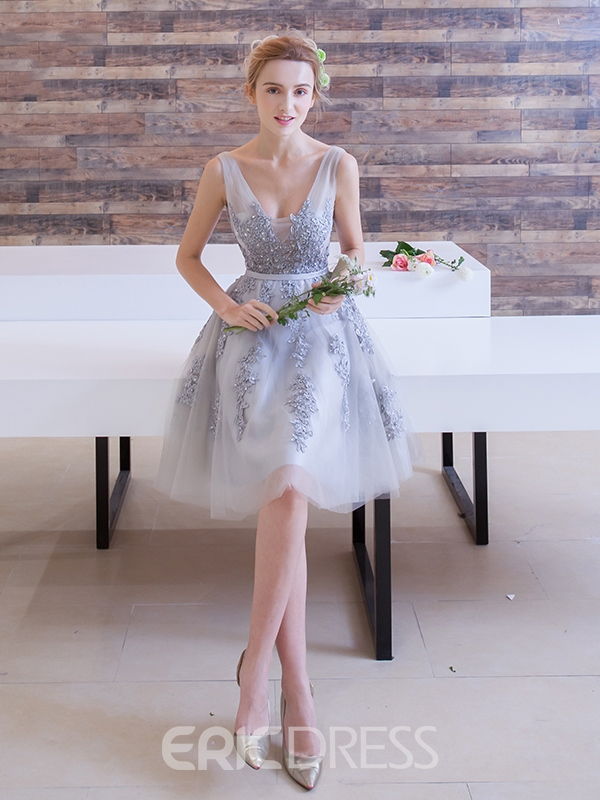 Ericdress A-Line Appliques Beading Short Prom Dress