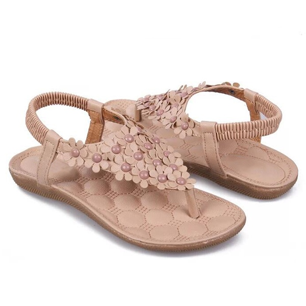 Ericdress Lovely Flower Flat Sandals