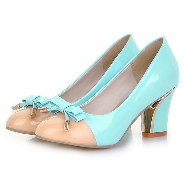 Ericdress Charming Patchwork Bowtie Pumps