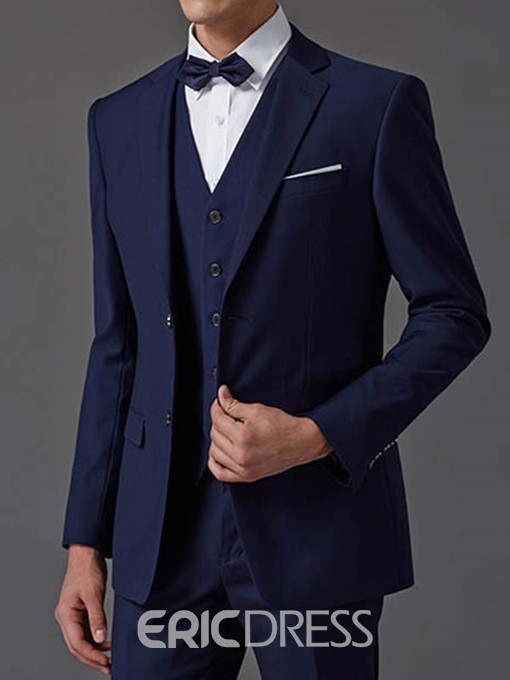 Ericdress Plain Three-Piece of Elegant Men's Suit