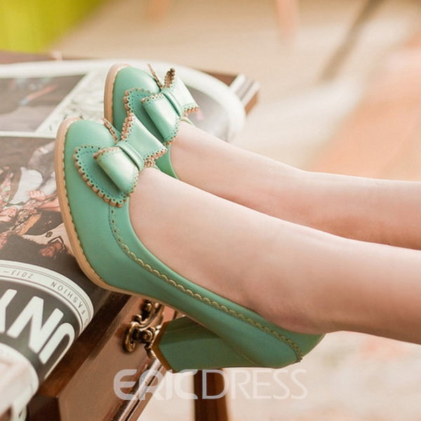 Ericdress Candy Color Chunky Pumps