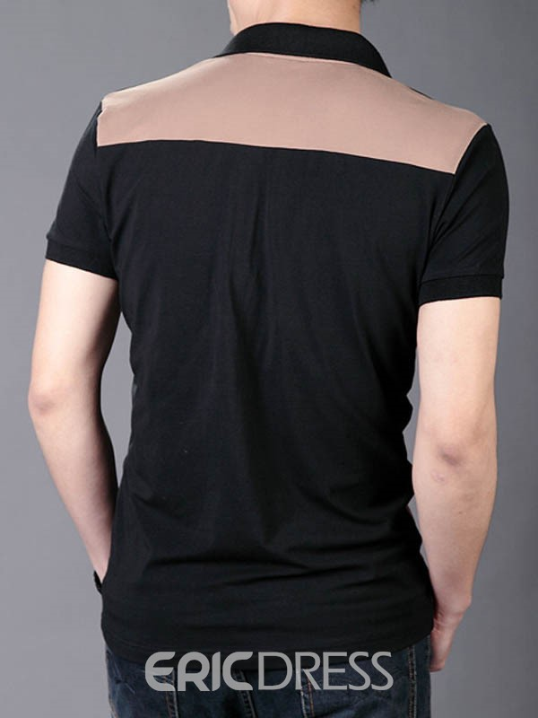 Ericdress Color Block Short Sleeve Men's Summer T-Shirt
