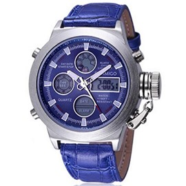 Ericdress Vogue doble movimiento luminoso reloj de Men