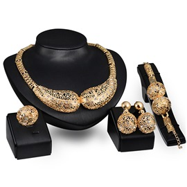 Ericdress Hollow Ball Diamante Jewelry Set