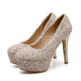 Ericdress Sequins Slip-On Platform Pumps