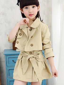 Ericdress Plain Lace-Up Girls Outfit