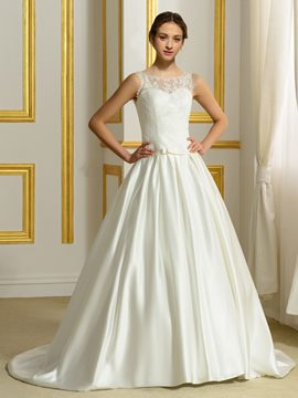 Ericdress Beautiful Sleeveless Ball Gown Lace Wedding Dress