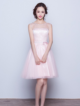 Ericdress Beaded Short Bridesmaid Dress