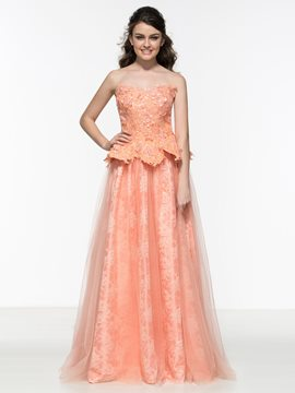 Ericdress Sweetheart Appliques Lace Long Prom Dress
