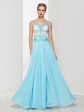 Ericdress Sheer Back Beading Sequins Prom Dress