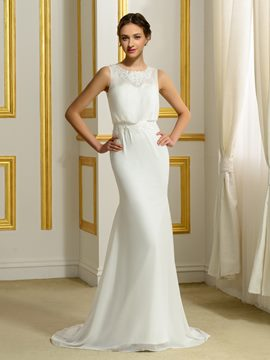 Ericdress Casual Sheath Chiffon Wedding Dress
