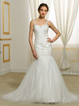 Ericdress Gorgeous Backless Mermaid Wedding Dress